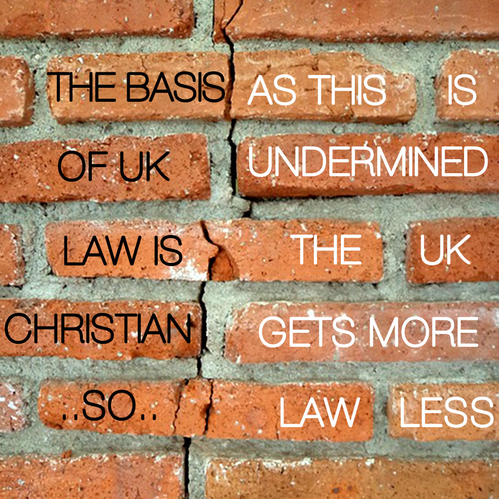 Lawlessness comes from rejecting God's law