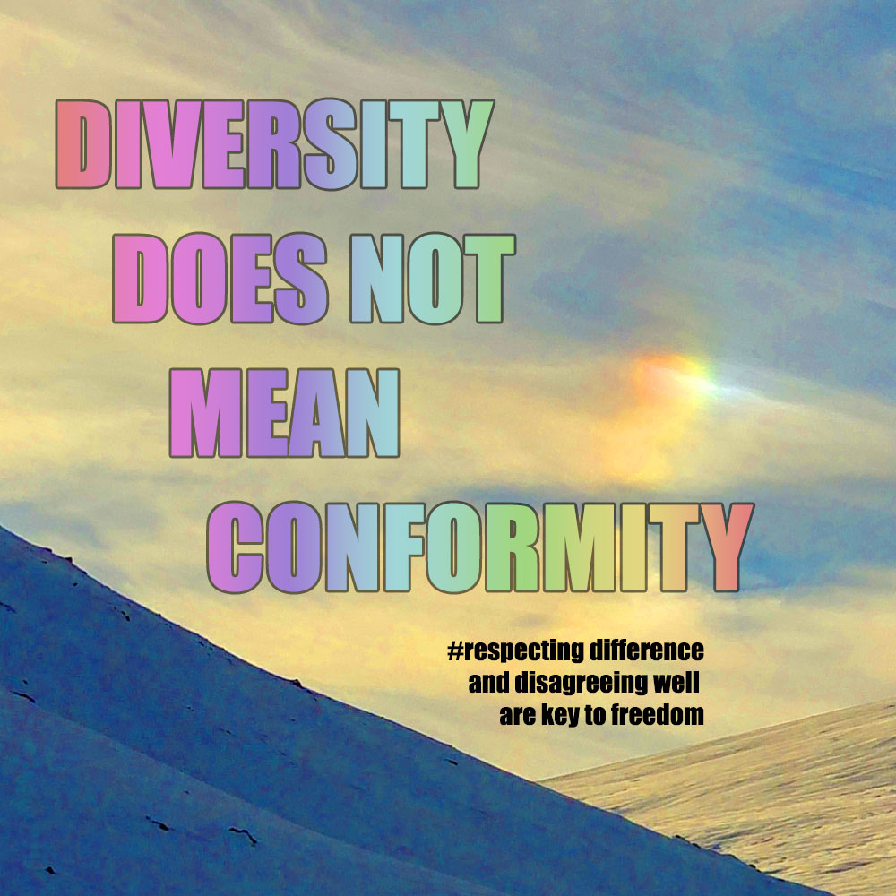 Diversity does not and should not mean conformity otherwise it's not diversity